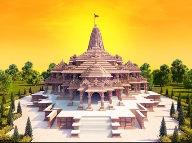 The proposed model of the Ram Temple in Ayodhya
