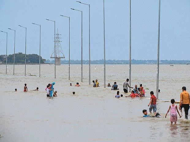 Prayagraj submerged in flood waters, rainfall, monsoon, rain