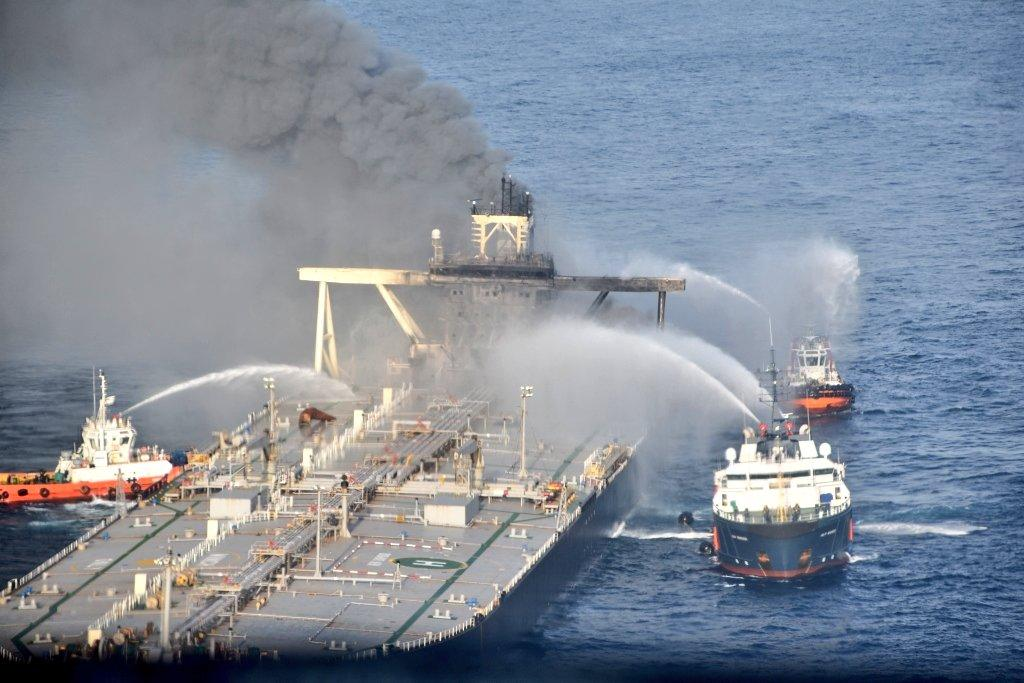 MT New Diamond had a major explosion in the engine room on September 3 when it was transiting in Sri Lankan exclusive economic zone