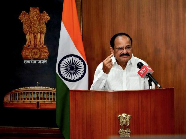 Vice President M. Venkaiah Naidu addresses during the virtual launch of the Heartfulness All India Essay Event 2020 in New Delhi