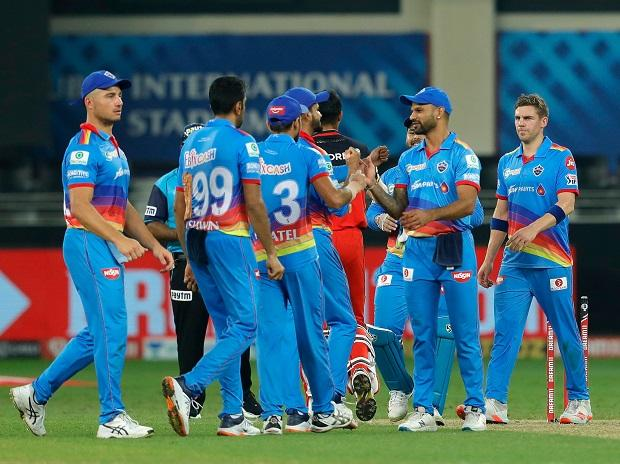 Delhi Capitals celebrates victory against RCB on Monday