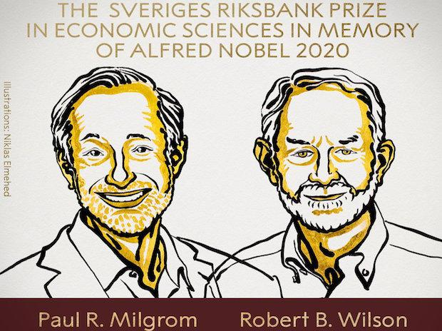 The 2020 Sveriges Riksbank Prize in Economic Sciences in Memory of Alfred Nobel has been awarded to Paul R. Milgrom and Robert B. Wilson  |  Credits: @NobelPrize