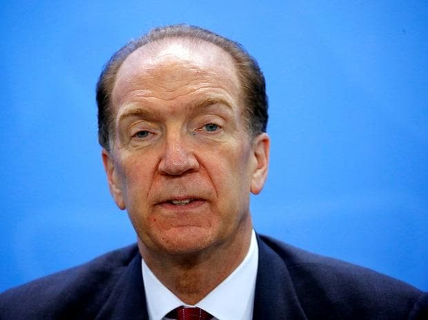 World Bank Group President David Malpass attends a news conference after a meeting at the Chancellery in Berlin. Photo: Reuters