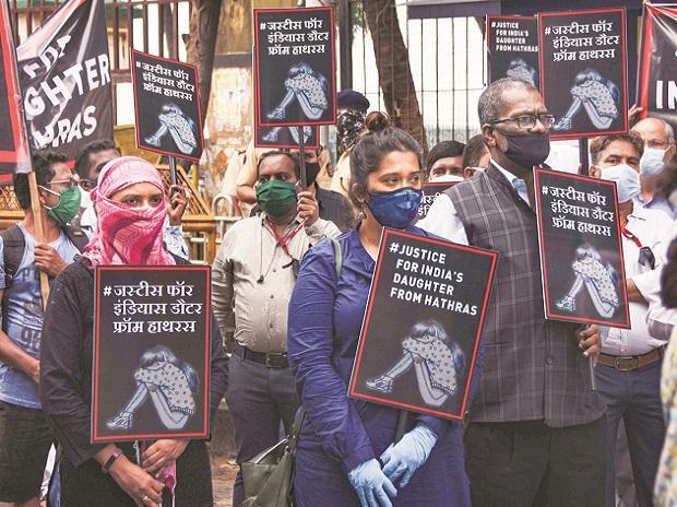 hathras rape case, protests