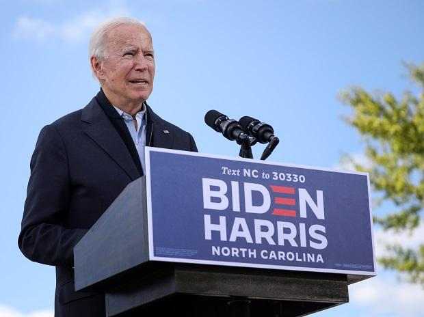 Joe Biden delivers remarks at a voter mobilization event at Riverside High School in Durham, North Carolina. Photo: Reuters