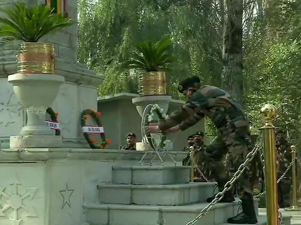 Chinar Corps celebrating the 74th Infantry Day at Badami Bagh Cantonment in Srinagar. Photo: AN