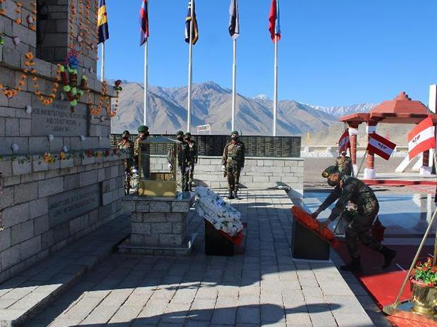 Infantry Day' was celebrated today by 'Fire & Fury' Corps at Leh with traditional solemnity & reverence. Photo: ANI