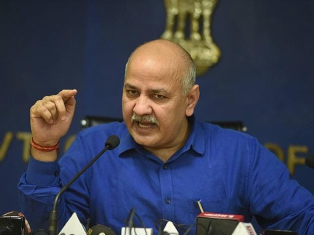 Delhi Deputy Chief Minister Manish Sisodia addresses a press conference, in New Delhi, Friday, Nov. 6, 2020. (PTI Photo/Vijay Verma)(