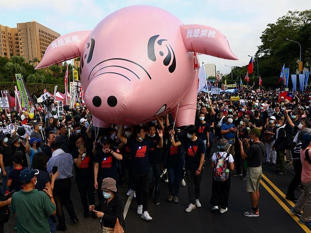 taiwan, pork protests