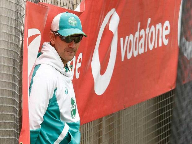 Head coach Justin Langer during Australia's practice session. Photo: @cricketcomau