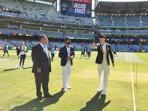 Tim Paine and Ajinkya Rahane during 2nd Test. Photo: @BCCI