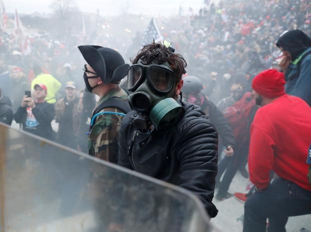 Protesters clash with Capitol police