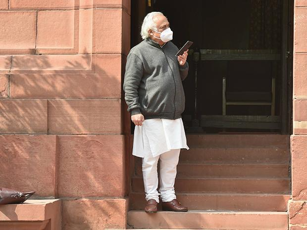 Congress MP Jairam Ramesh  at Parliament during the ongoing Budget Session, in New Delhi. Photo: PTI