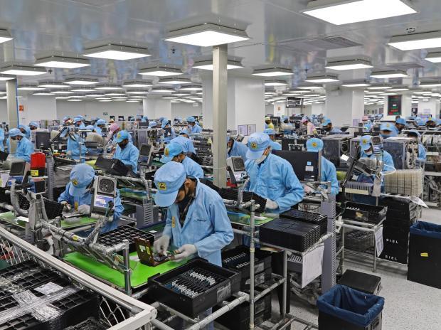 A Dixon Industries assembley line in Noida, on Jan. 28. Photographer - Anindito Mukherjee/Bloomberg