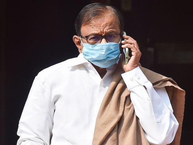 Congress MP P Chidambaram at Parliament, during the Budget Session
