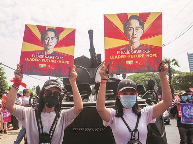 Myanmar, protests, coup, Aung San Suu Kyi
