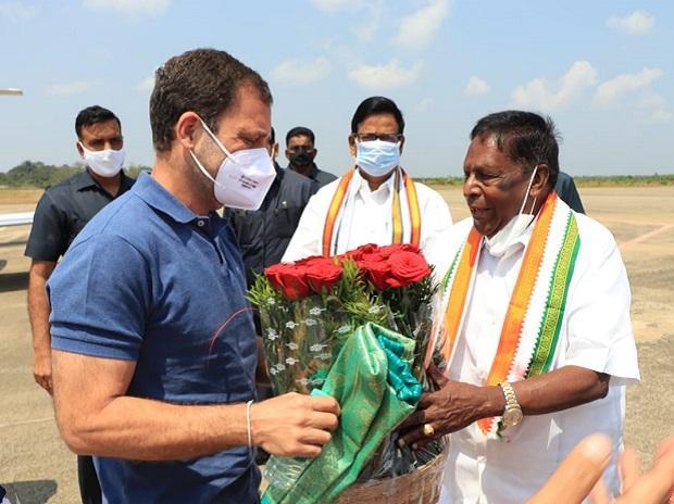 V Narayanasamy, Rahul Gandhi, Puducherry congress
