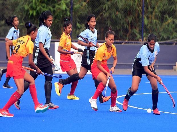 Sub-junior women's hockey: SAI Academy vs MP in semis