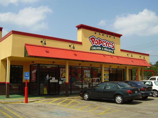 Popeyes restaurant in Houston, Texas, United States. Photo: Wikipedia Commons