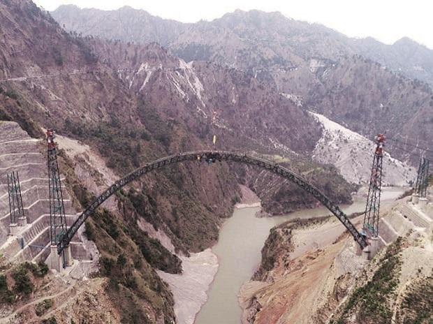 railways, bridge, Chenab Bridge, world's highest railway bridge