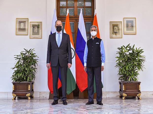 External Affairs Minister S Jaishankar welcomes Minister of Foreign Affairs of the Russian Federation Sergey Lavrov before a meeting, in New Delhi   Photo: PTI