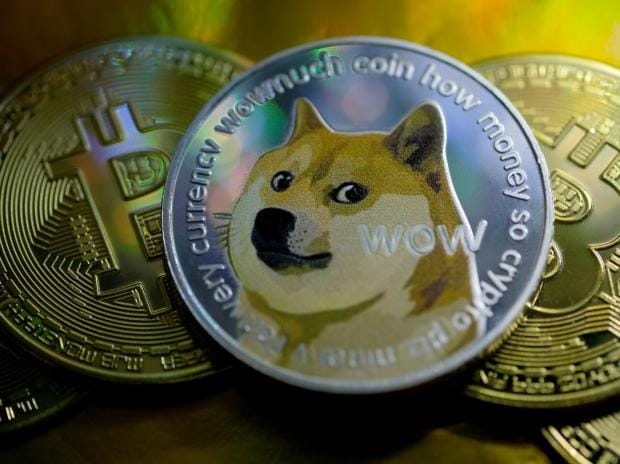 Dogecoin cryptocurrency slumps after hashtag-fueled surge to record high