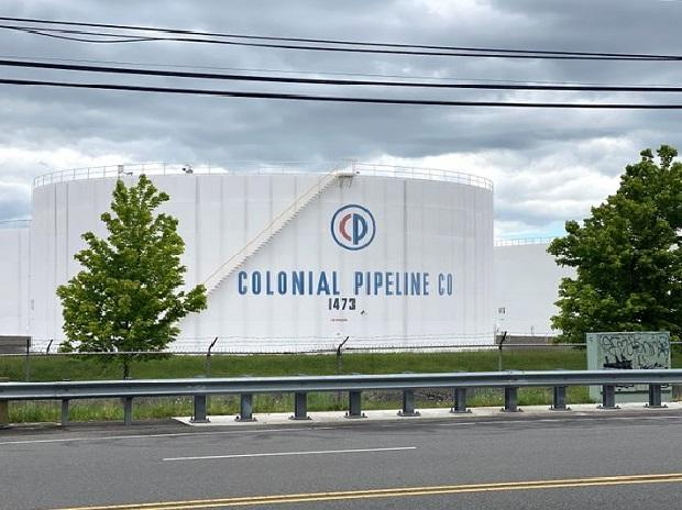Holding tanks are pictured at Colonial Pipeline's Linden Junction Tank Farm in Woodbridge, New Jersey, U.S.