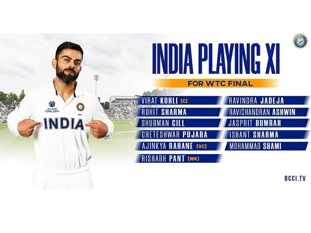 IND vs NZ playing 11: BCCI announces India playing 11 for WTC final