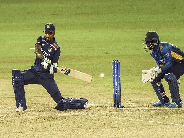 Indian Skipper Shikhar Dhawan played a fine knock of 86, even as his younger partners blazed away. Photo: @ICC