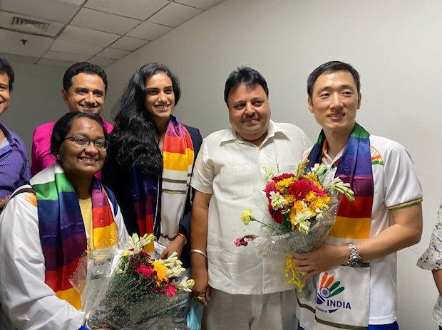 P V Sindhu, a double Olympic medallist, gets grand welcome in Delhi