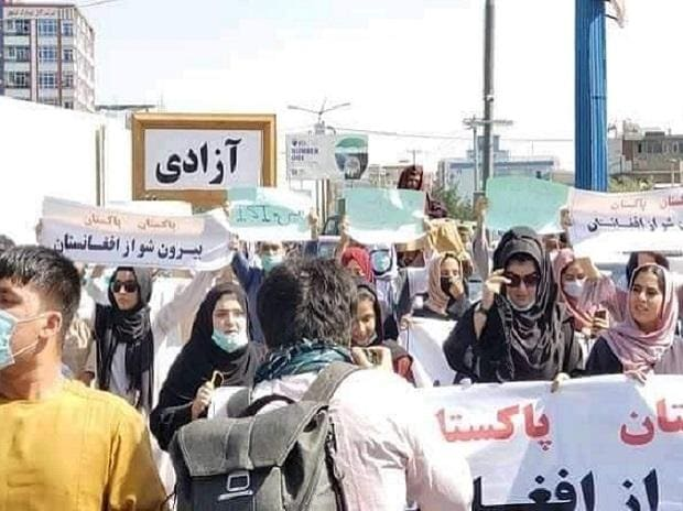 women, protests in Afghanistan against Taliban