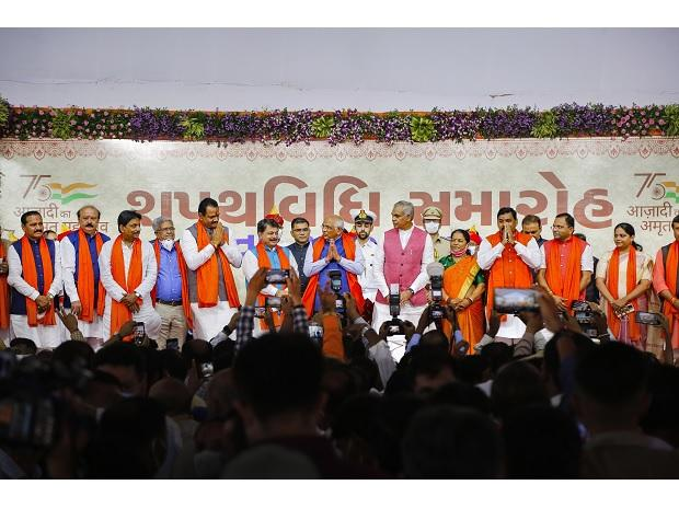 Gujarat: 24 ministers sworn in; not a single induction from Rupani cabinet