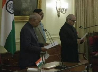 Justice Pinaki Chandra Ghose takes oath as first Lokpal chief of India