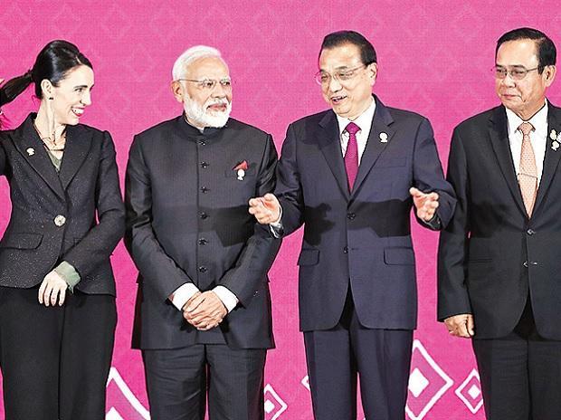 (From left) New Zealand's Prime Minister Jacinda Ardern,  Prime Minister Narendra Modi, Chinese Premier Li Keqiang, and Thai Prime Minister Prayuth Chan-Ocha at the 3rd Regional Comprehensive Economic Partnership (RCEP) summit in Bangkok, Thailand, o