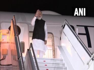 Prime Minister Narendra Modi arrives at the airport in New York. (Photo: ANI)