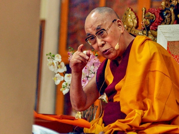 Tibetan spiritual leader Dalai Lama speaks during a three-day teaching on Shantideva's 'A Guide to the Bodhisattva's Way of Life', in Dharamshala on Wednesday, June 06, 2018.