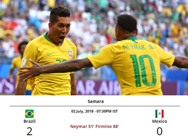 6fd6e1e3a Neymar led-Brazil whip past sloppy Mexico