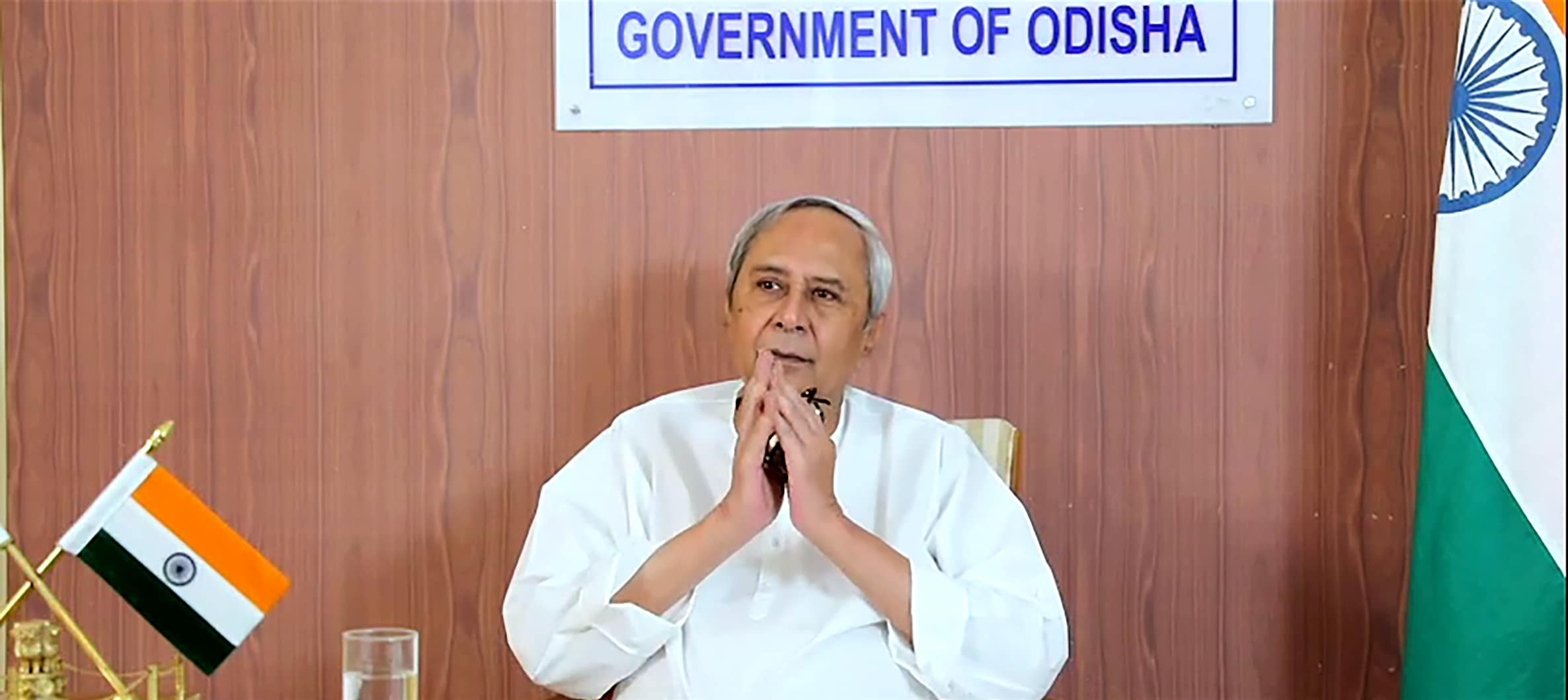 Odisha Chief Minister Naveen Patnaik inaugurating the Product Application and Development Centre, set up by Indian Oil Corporation Ltd (IOCL), via video conferencing, in Paradip.