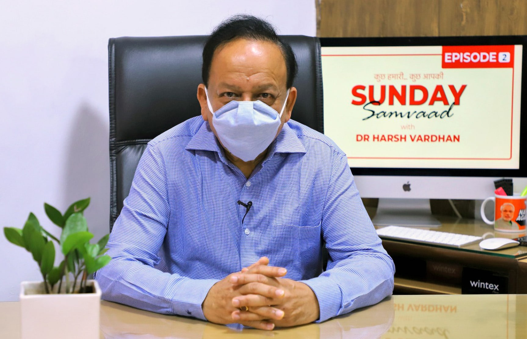 The Union Minister for Health & Family Welfare, Science & Technology and Earth Sciences, Dr. Harsh Vardhan interacting with social media users during Sunday Samvaad-2, in New Delhi.
