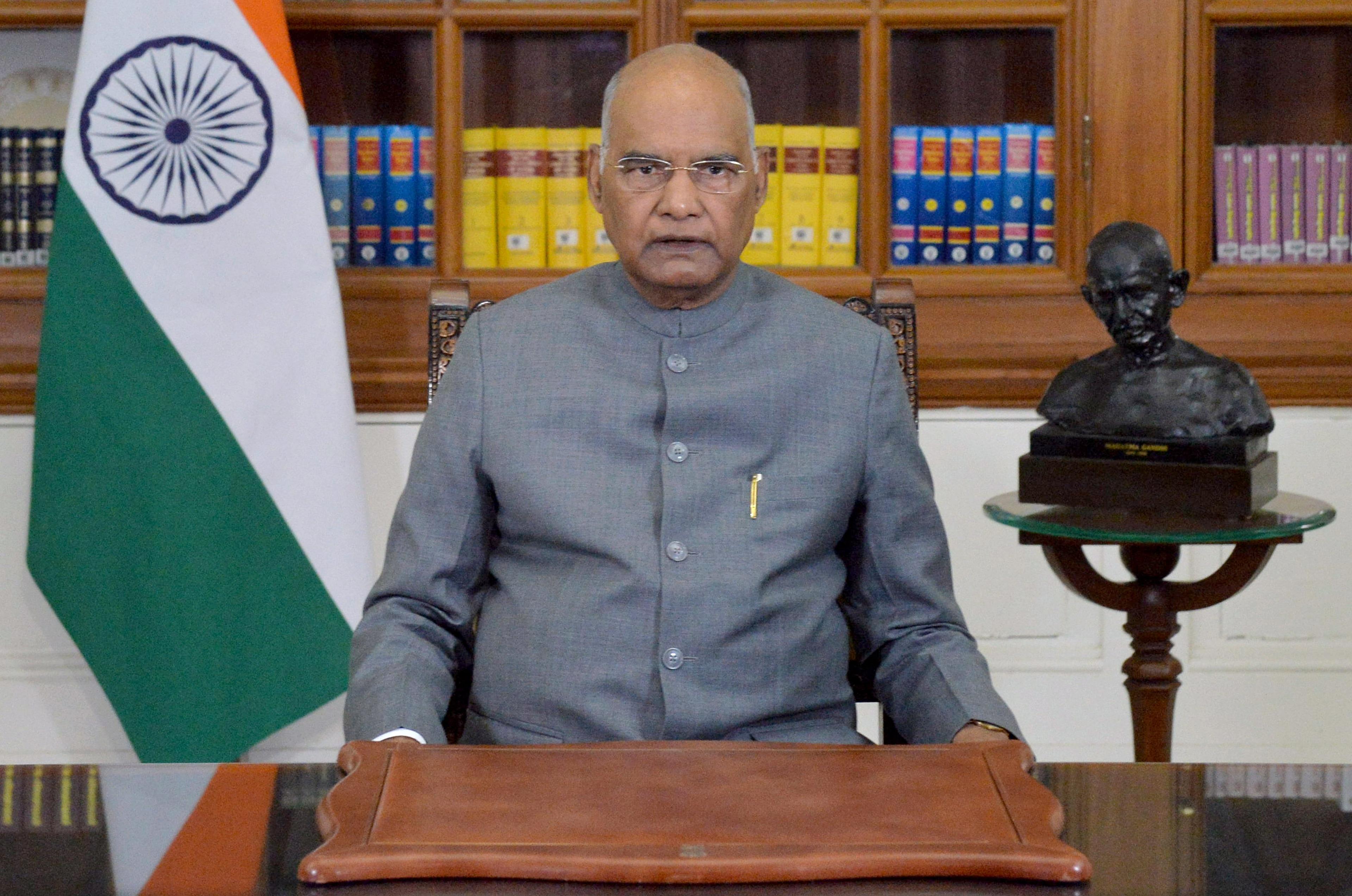 President Ram Nath Kovind addresses the nation on the eve of 72nd Republic Day