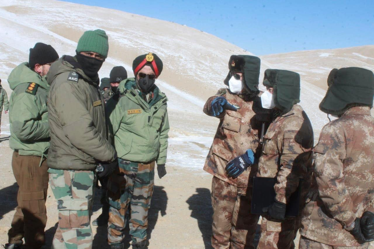 Indian Army and People's Liberation Army officials during the ongoing disengagement process in Ladakh.