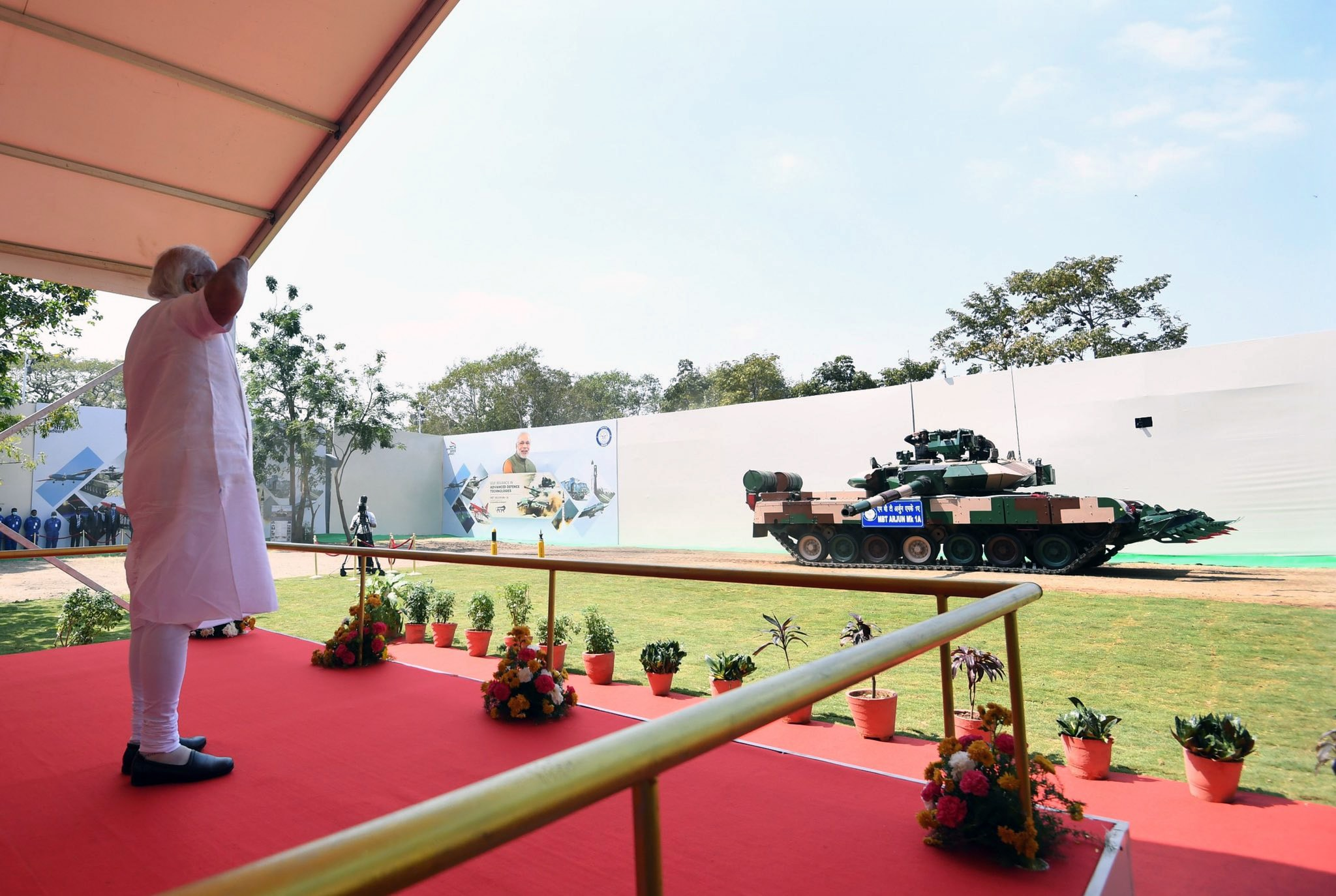 PM Modi also saluted the state-of-the-art tank