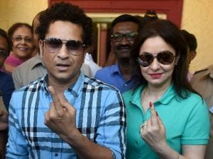 Maharashtra civic polls: Bollywood celebs, others cast vote