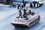 IS militant take part in military parade