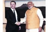 Mark Zuckerberg with Modi