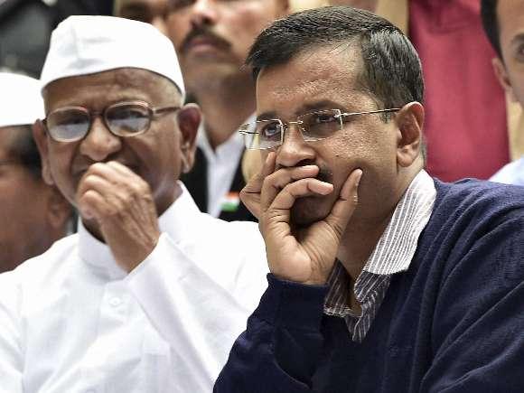 Anna Hazare, Arvind Kejriwal, Land Acquisition Bill, Protest