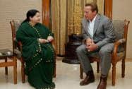 Terminator star meets Tamil Nadu CM
