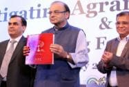 Arun Jaitley at the launch of 'Rural Economy Tracker'