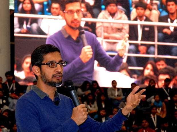 Sundar Pichai, Google, Harsha Bhogle, SRCC