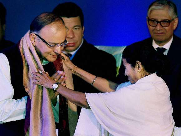 Arun Jaitley, Nitin Gadkari, Mamata Banerjee, Bengal Global Summit